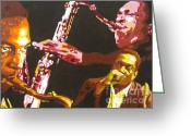 Free Style Greeting Cards - John Coltrane A Love Supreme Greeting Card by Ronald Young