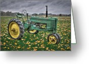 John Deere Greeting Cards - John Deere 2 Greeting Card by Williams-Cairns Photography LLC