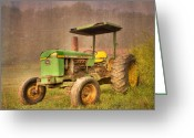 John Deere Greeting Cards - John Deere 2440 Greeting Card by Debra and Dave Vanderlaan