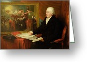Sat Greeting Cards - John Eardley Wilmot  Greeting Card by Benjamin West