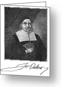 Autograph Greeting Cards - John Endecott (1589-1665) Greeting Card by Granger
