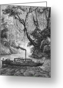 Delaware River Greeting Cards - John Fitch Steamboat Greeting Card by Granger