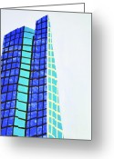 Cusack Greeting Cards - John Hancock Building Greeting Card by Sean Cusack