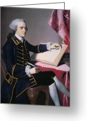 Signing Greeting Cards - John Hancock Greeting Card by John Singleton Copley