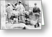 Professors Greeting Cards - John Hopkins Operating Room, 19031904 Greeting Card by Science Source