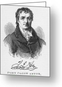 Autograph Greeting Cards - John Jacob Astor Greeting Card by Granger