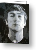 Favorites Greeting Cards - John Lennon - Birth Of The Beatles Greeting Card by David Lloyd Glover