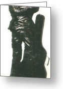 Lovely Sculpture Greeting Cards - John Lennon Greeting Card by Larkin Chollar
