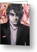 Elvis Greeting Cards - John Mayer Greeting Card by Eric Dee