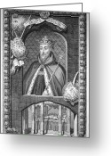 Duke Of Lancaster Greeting Cards - John Of Gaunt (1340-1399) Greeting Card by Granger