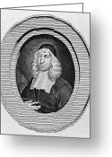 Cravat Greeting Cards - John Owen (1616-1683) Greeting Card by Granger