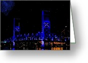 Florida Bridge Greeting Cards - John T Alsop Jr Bridge Greeting Card by DigiArt Diaries by Vicky Browning
