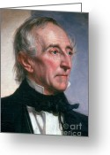 Personality Greeting Cards - John Tyler Greeting Card by Photo Researchers