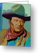 John Wayne Greeting Cards - John Wayne Greeting Card by John Keaton