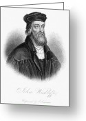 Heretic Greeting Cards - John Wycliffe (1320?-1384) Greeting Card by Granger