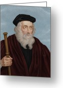 1300s Greeting Cards - John Wycliffe, English Theologian Greeting Card by Maria Platt-evans