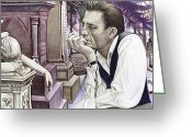 Graveyard Greeting Cards - Johnny Cash-Hurt Greeting Card by Joshua Morton