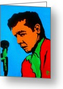 Singer Songwriter Greeting Cards - Johnny Pop II Greeting Card by Pete Maier