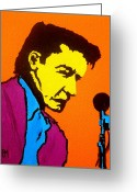 Singer Songwriter Greeting Cards - Johnny Pop III Greeting Card by Pete Maier