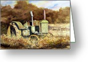 John Deere Greeting Cards - Johnny Popper Greeting Card by Sam Sidders