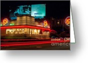 Convention Photography Atlanta Greeting Cards - Johnny Rockets Atlanta Greeting Card by Corky Willis Atlanta Photography