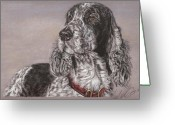 Man Pastels Greeting Cards - Johnny Greeting Card by Terry Kirkland Cook