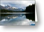 Best Sellers Greeting Cards - Johnson Lake Greeting Card by Adam Pender