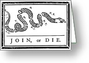 4th Digital Art Greeting Cards - Join or Die Greeting Card by War Is Hell Store