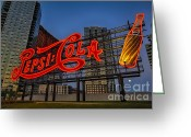 Billboards Greeting Cards - Join The Pepsi Generation Greeting Card by Susan Candelario