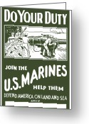 Marine Corps Greeting Cards - Join The US Marines Greeting Card by War Is Hell Store