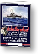 Second Greeting Cards - Join The US Navy Greeting Card by War Is Hell Store