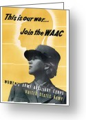 Trojan Greeting Cards - Join The WAAC Greeting Card by War Is Hell Store