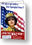 States Greeting Cards - Join The WAC Now Greeting Card by War Is Hell Store