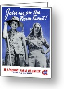 Second Greeting Cards - Join Us On The Farm Front Greeting Card by War Is Hell Store