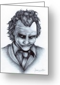 Batman Greeting Cards - Joker Greeting Card by Jamie Warkentin
