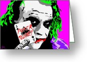 Batman Greeting Cards - Joker Poker Greeting Card by Jason Kasper