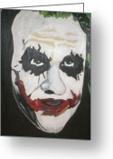 Batman Greeting Cards - Joker Greeting Card by Samantha Lusby