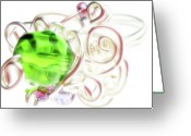 Silver Jewelry Greeting Cards - Jolly Rancher Greeting Card by Molly McPherson