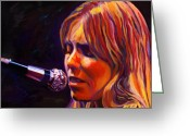 Producer Greeting Cards - Joni Mitchell..legend Greeting Card by Vel Verrept