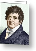 Male Forms Greeting Cards - Joseph Fourier, French Mathematician Greeting Card by Sheila Terry