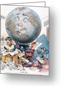 Political Acts Greeting Cards - Joseph Pulitzer Cartoon Greeting Card by Granger