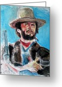 Movie Legend Greeting Cards - Josey Wales  Greeting Card by Jon Baldwin  Art