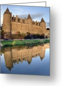 Ancient Architecture Greeting Cards - Josselin Chateau Greeting Card by Jane Rix