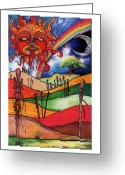African American Artist Photo Greeting Cards - Journey Greeting Card by Anthony Burks