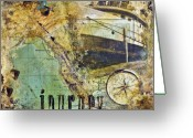 Compass Greeting Cards - Journey Greeting Card by Barb Pearson