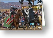 Round Table Greeting Cards - Joust to the end... Greeting Card by Jon Berghoff