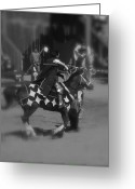 Jousting Greeting Cards - Jousting Greeting Card by Kume Bryant