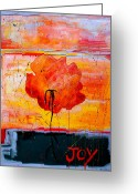 Joyful Greeting Cards - Joy Greeting Card by Betty OHare
