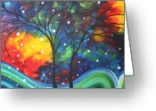 Upbeat Greeting Cards - Joy by MADART Greeting Card by Megan Duncanson