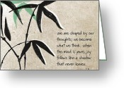 Bamboo Greeting Cards - Joy Greeting Card by Linda Woods